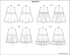 Kids Illustrator Flat Fashion Sketch Templates - My Practical Skills   My Practical Skills