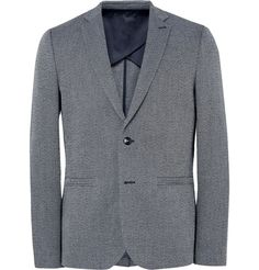 115201d83bf Men s Casual Blazers · Folk - Storm-Blue Slim-Fit Birdseye Cotton and Linen-Blend  Blazer Blazers