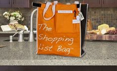 Reusable Grocery Bags from Shopping List Bag