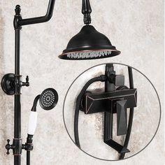 Antique Black Bronze Brass High Quality Square Control Bathroom Shower Set TBS1798