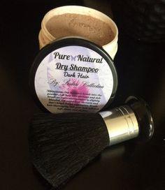 Pure Natural Dry Shampoo/Dark Hair/ Brush by LestariBotanicals