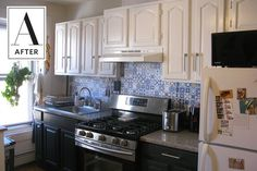 Before & After: A Basic Brooklyn Kitchen Goes Mediterranean | Apartment Therapy