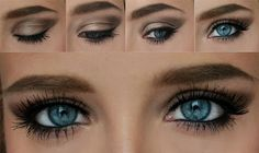 Lilly Collins Inspired| Barbie Mutation. #BlueEyes makeup. #LillyCollins <3 repin if you think this is GORGEOUS! Love the #eyes
