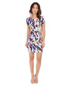 NYDJ Gabriella Printed Crepe Dress