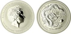 2012 One Ounce Silver Dragon - MintProducts.com - Beautiful coin commemorating the Year of the Dragon! Very popular - also in half ounce, two ounce, and five ounce sizes.