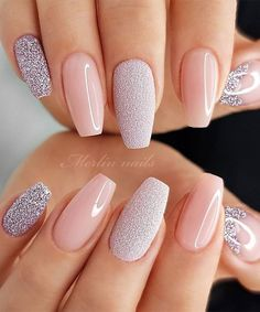 49 Cute Nail Art Design Ideas With Pretty & Creative Details : Mismatched pink nails