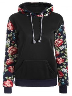 Doppyee Hoodies Sweaters Mens Long Sleeve Beautiful Flowers Printed Pullover Hooded Sweatshirt With Pockets