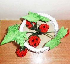 3D Origami – Little Strawberries