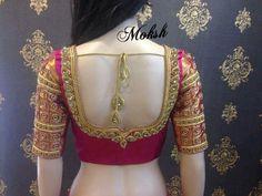 Wedding Saree Blouse Designs, Pattu Saree Blouse Designs, Blouse Designs Silk, Blouse Models, Back Neck Designs, Beautiful Blouses, Fancy, Sleeve Designs, Indian Designer Wear