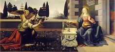 Leonardo da Vinci - Annunciation. Galleria Uffizi. Florence