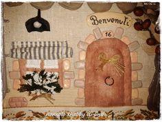 cucito creativo.....casetta portachiavi....(small house keychain)