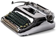 The Phantom: Restored Antique Chrome Typewriter - fully working typewriter from the Father Birthday Gifts, Great Birthday Gifts, Gifts For Father, Gifts For Old Men, Gifts For Him, Working Typewriter, Personalized Gifts For Men, Vintage Typewriters, Romantic Gifts