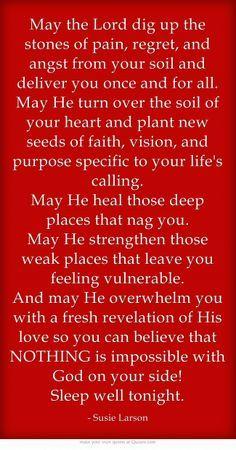 In Jesus mighty name Amen