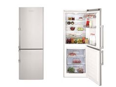 10.6 cu. ft. Counter Depth Bottom Freezer Refrigerator with 2 Adjustable Shelves, 3 Freezer Drawers, Dual Evaporators and White LED Lighting: White Frost f