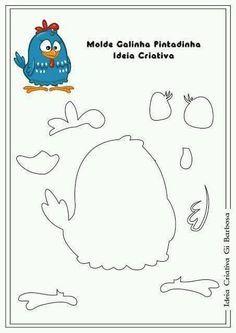 Use e abuse do molde para criar! Foam Crafts, Diy And Crafts, Crafts For Kids, Paper Crafts, Free To Use Images, Felt Birds, Felt Patterns, Ideas Para Fiestas, Easter Holidays