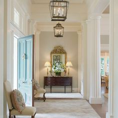 This is the overall feel I want to achieve when we step into the house: Something Greek, Something Homely. Georgia Greek Revival