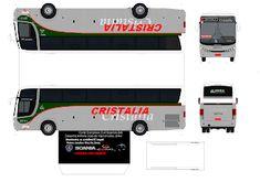 Sejam Bem Vindos ao meu Blog!!!: COMIL CAMPIONE VIAÇÃO CRISTÁLIA ( LOUCOS POR ONIBUS ) Onibus Marcopolo, Origami Art, Paper Models, Fire Trucks, Buses, Transportation, Blog, Model Building, Planners