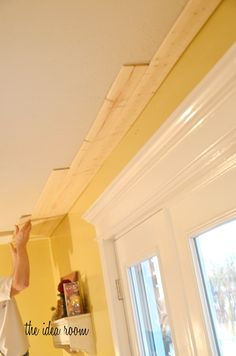 How to DIY a Wood Plank Ceiling...actually looks amazing when finished!