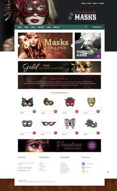 Making a masquerade masks is a delicate work that demands full concentration and a mass of enthusiasm. Each handmade mask is unique. The author of our template wanted to deliver this message to the...