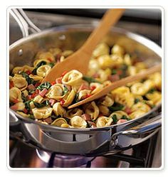 Another awesome easy dinner but in the Pampered Chef executive skillet