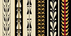free Download set of the greek borders