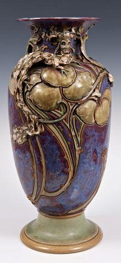 A Vase by Mark V Marshall for Doulton Lambeth