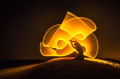 Light-painting in the desert by Eric  Paré - Photo 130966201 - 500px