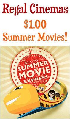 Regal Cinemas: $1.00 Summer Movies! #movie #kidsactivities #thefrugalgirls