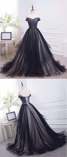 Charming Off The Shoulder Sweetheart Tulle Lace up Long Prom Dresses,Cheap Prom Dresses,#EveningDressPromGowns,Formal Women Dress,Prom Dresses,#OnlinestoreChicdresses