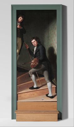 Charles Willson Peale: Staircase Group (Portrait of Raphaelle Peale and Titian Ramsay Peale). 1795.