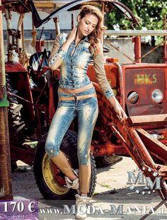 £: M.M.A. - jeans e ecopelle a http://www.shop.moda-mania.it/abbigliamento/completi/completo-jeans-ecopelle-marone-foggi.html