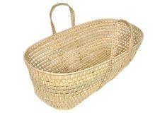 Firewood Storage Basket, woven palm leaves