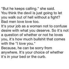 Bad men love love too