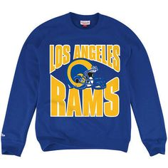 Los Angeles LA Rams Mitchell  amp Ness Licensed Throwback Colors Pullover  Sweatshirt - allaccesssports365. 680525878cf1