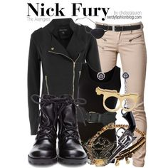 Nick Fury | Marvel, created by chelsealauren10 on Polyvore