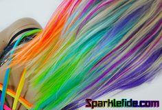 This item is unavailable Pastel Rainbow Hair, Neon Rainbow, Colourful Hair, Rainbow Fashion, Wig Making, Wig Cap, Purple Hair, New Hair, Cool Hairstyles