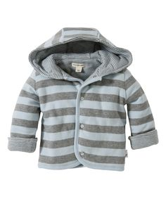 Look at this Sky Stripe Reversible Organic Hooded Jacket - Infant on #zulily today!