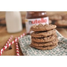 Nutella Cookies: When mixing up your flour and eggs for cookie dough, simply add in half a cup of Nutella for the best chocolate chip cookies to ever meet your mouth. Source: Instagram user bish.dish