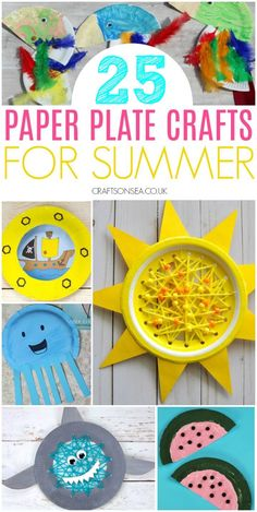 paper plate crafts for kids summer - Crafts and Activities for Kids - Crafts Paper Plate Crafts For Kids, Summer Crafts For Kids, Summer Activities For Kids, Crafts For Kids To Make, Summer Kids, Craft Activities, Preschool Crafts, Projects For Kids, Kids Crafts