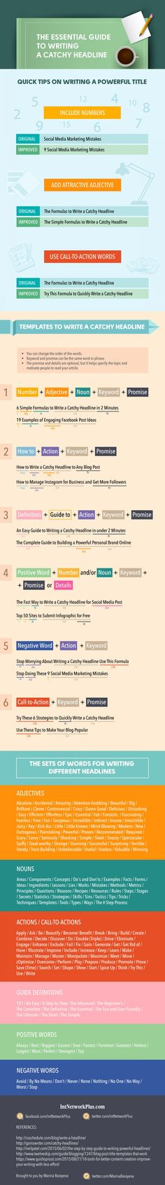 The Essential Guide to Writing an Attractive Headline in 2 Minutes Infographic