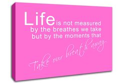 Show details for Life Is Not Measured Vivid Pink
