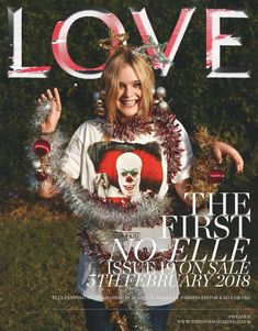"""Elle Fanning for """"The Love Magazine"""" February Christmas Cover, Christmas Bulbs, Tapas, Love Magazine, Magazine Covers, Fanning Sisters, Elle Fanning, Fashion Editor, American Actress"""