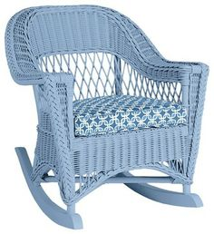 Wicker by Maine Cottage - The Molly Rocker Wicker Rocker, Wicker Chairs, Wicker Furniture, Furniture Decor, Painted Furniture, Outdoor Furniture, Cane Furniture, Beach Cottage Style, Coastal Style