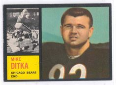 #43 Mike Ditka - 1962 Topps #17 Mike Ditka Rookie Card