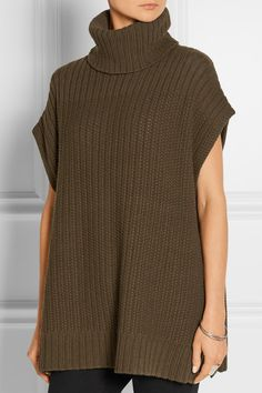 Theory | Wool and cashmere-blend poncho | NET-A-PORTER.COM