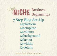 Seven Step Blog Set-up