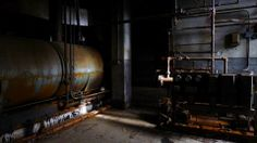 Boiler tank — gauges and rusted pipes