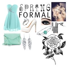 """""""spring formal"""" by pussyfucker69 ❤ liked on Polyvore featuring Charlotte Russe, Bobbi Brown Cosmetics, Urban Decay, Apt. 9, Disney, Belk Silverworks and Forever 21"""
