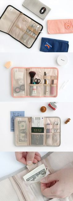Cute, functional, & easy organization? Yes, please!! The Brunch Brother Roll Up Organizer is full of charm and practically designed. It rolls or folds up and can be secured with velcro. The 3 interior sections feature 1 mesh zippered pocket for coins, 3 open mesh pockets, 2 wide elastic bands, and 1 bonus secret pocket! This organizer is perfect for travel accessories, makeup, planner supplies, and loose device cords. It's a versatile must have, so check it out!
