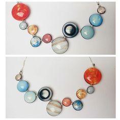 Solar System Glass Necklace